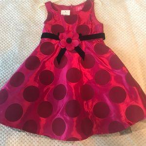 NWT pink fluffy girls dress